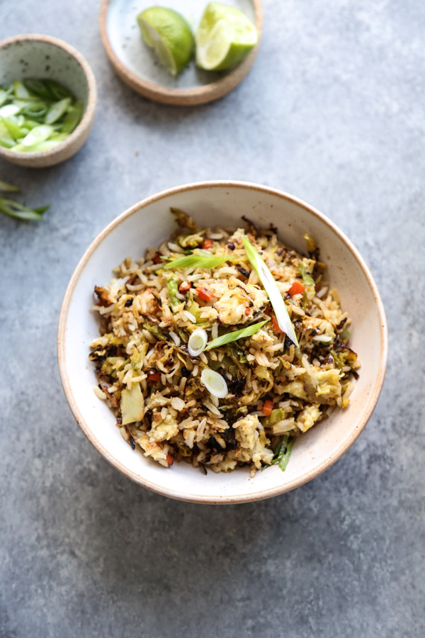 Vegetable Fried Rice in a Bowl