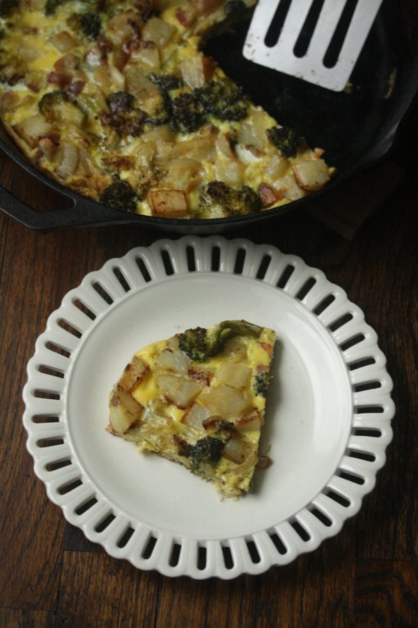 Broccoli and Bacon Frittata