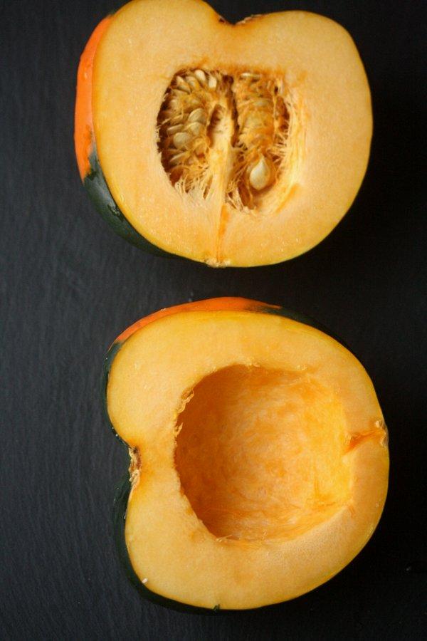Baked Acorn Squash with Maple-Siracha Glaze
