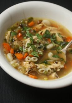 Turkey Noodle Soup with Ginger and Cilantro