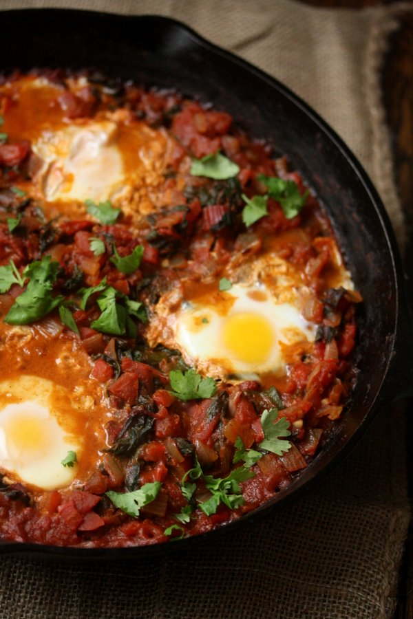 Shakshouka with Red Chard Gluten-Free Breakfast Recipes | Healthy Brunch Recipes