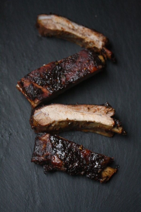 Oven Baked Ribs with Tex-Mex BBQ Sauce