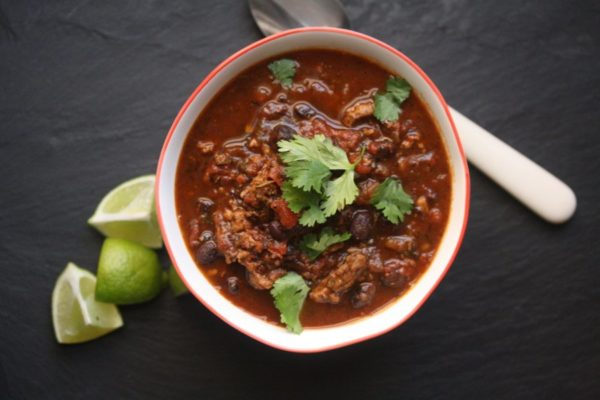 Healthy Turkey Chili Recipe with Black Beans and Jalapeno