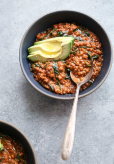 Red Lentil and Spinach Masala {Video}