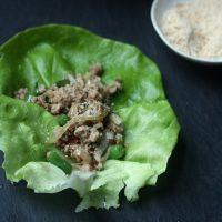 Pork Larb Lettuce Wraps