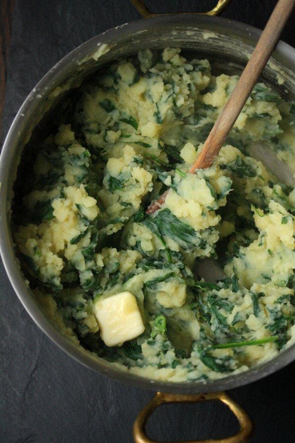 spinach mash