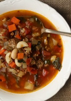 Minestrone Soup with Turkey Sausage and Fennel