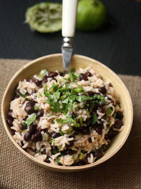 Rice and black bean salad recipe with spicy lime dressing easy meals black bean and rice salad with spicy lime dressing print recipe forumfinder Images
