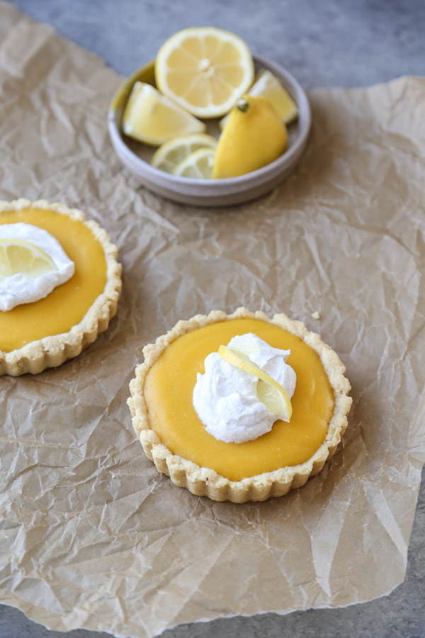 healthy lemon tarts mini pans