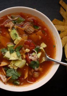 Easy Spicy Chicken Tortilla Soup