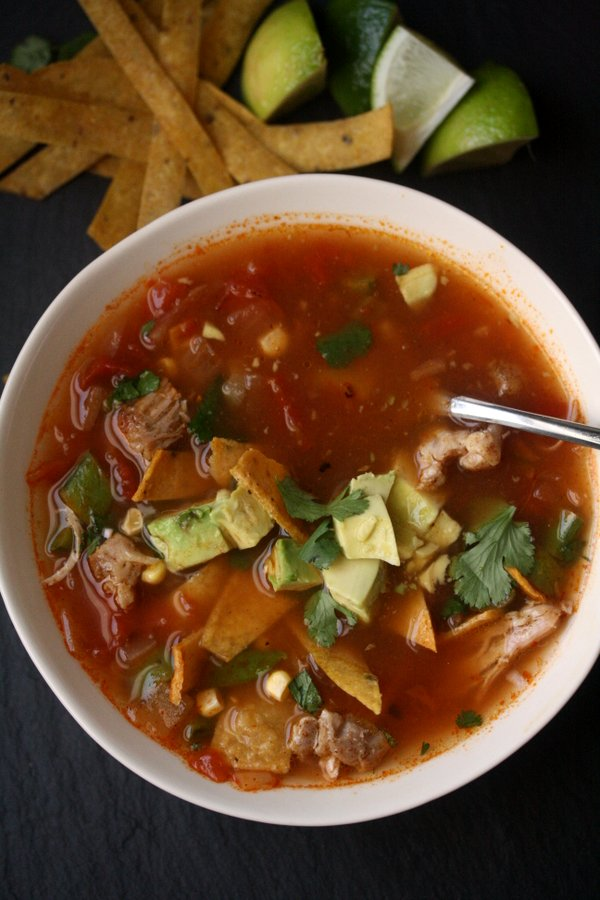 Spring Chicken Tortilla Soup