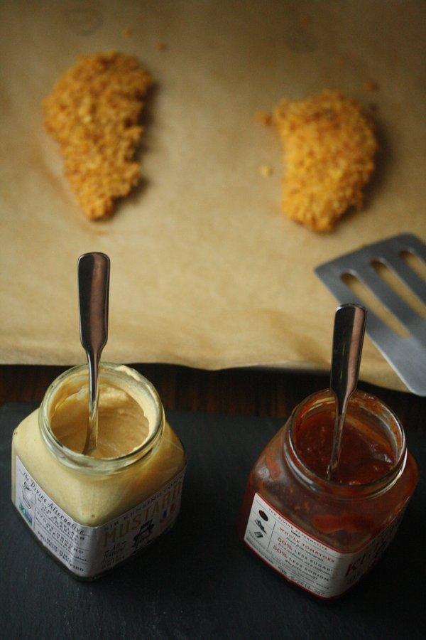 Gluten-Free Dijon Baked Chicken Fingers