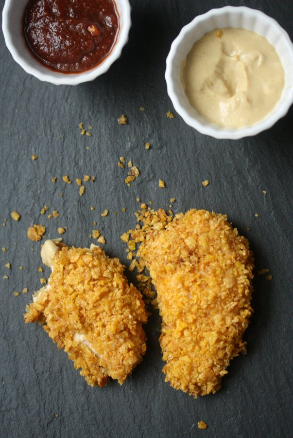 Gluten-Free Dijon Baked Chicken Fingers | Low FODMAP Recipes
