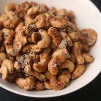 Maple Glazed Coconut Cashews