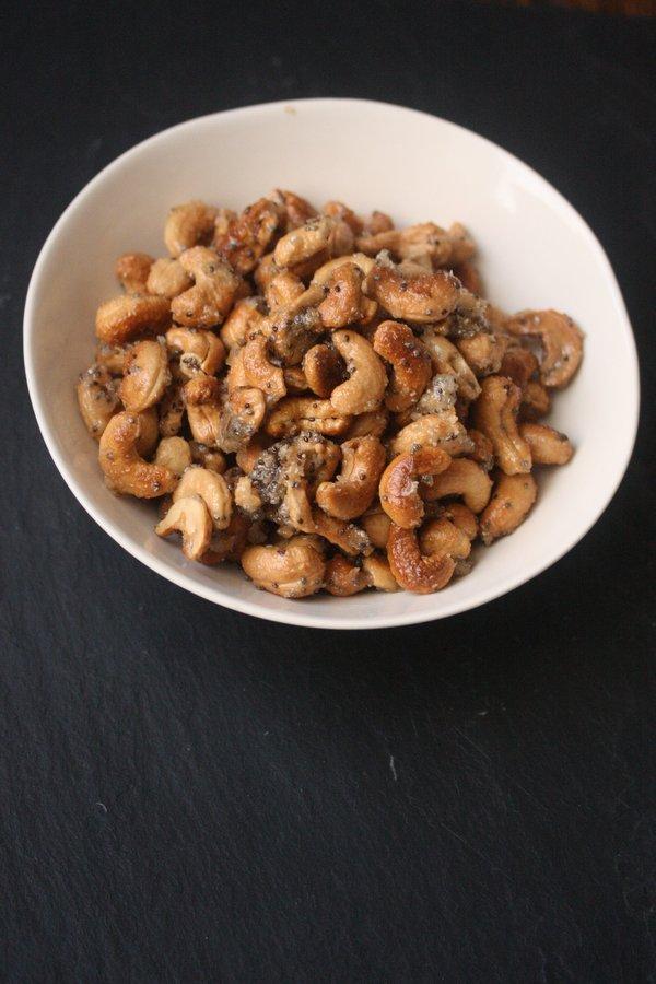 Maple Glazed Coconut Cashews