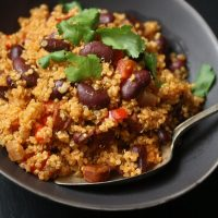 Spanish Quinoa Pilaf with Chorizo and Kidney Beans