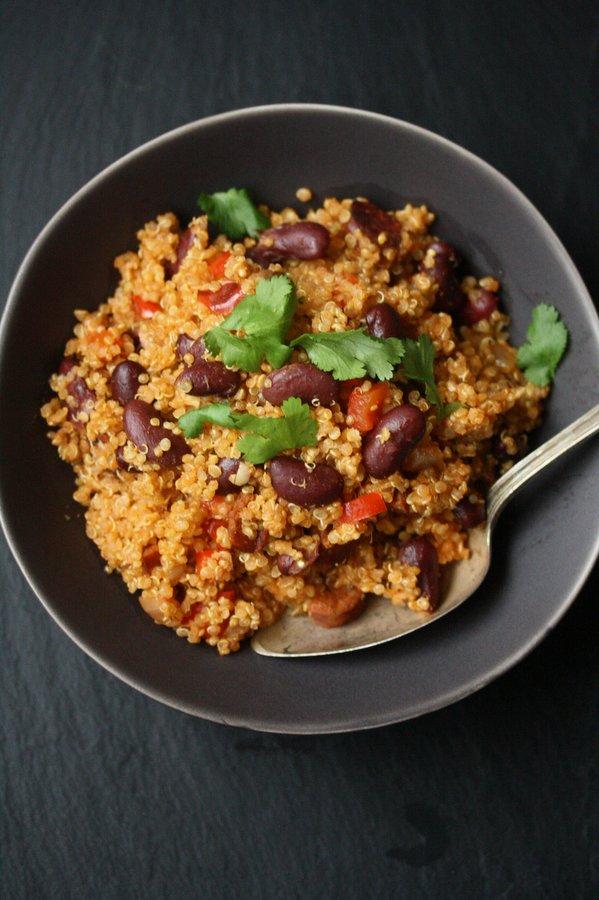 Easy Spanish Quinoa Pilaf with Chorizo | Simple Gluten-Free Recipes