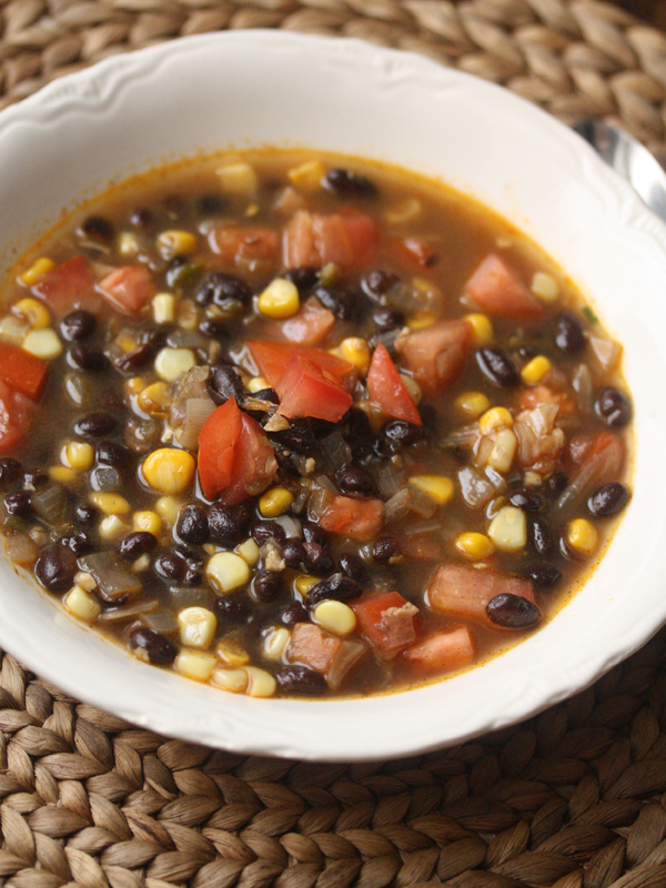 Summer Black Bean Soup Recipe With Corn And Tomatoes Healthy Meals