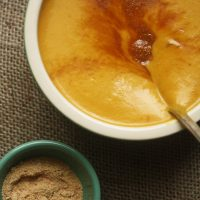 Sweet & Savory Pumpkin Soup with Maple Sugar