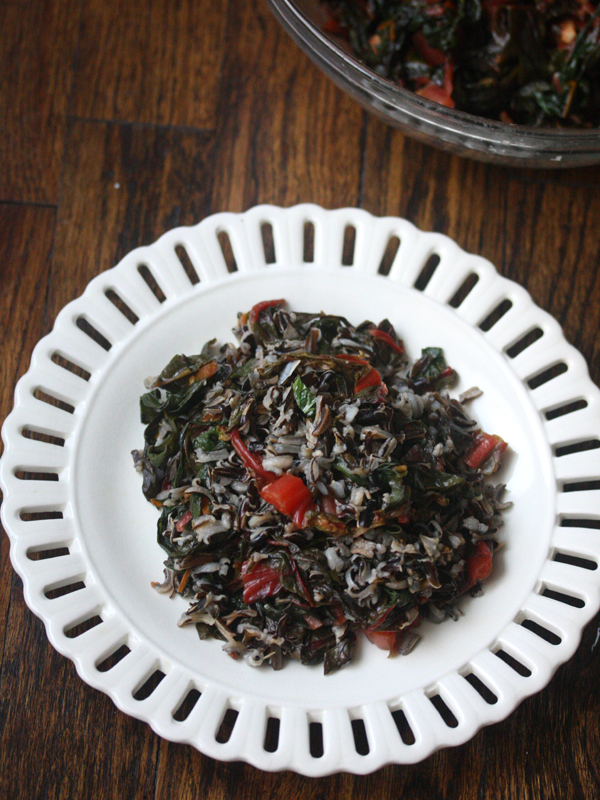 Wild-Rice-with-Wilted-Greens