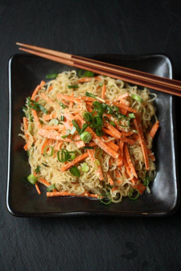 Juice Press Almond-Sesame Noodles with Kelp Pasta and Almond Butter Tamari Sauce   Healthy, Vegan, Raw, Gluten-Free   Kelp Noodle Recipes