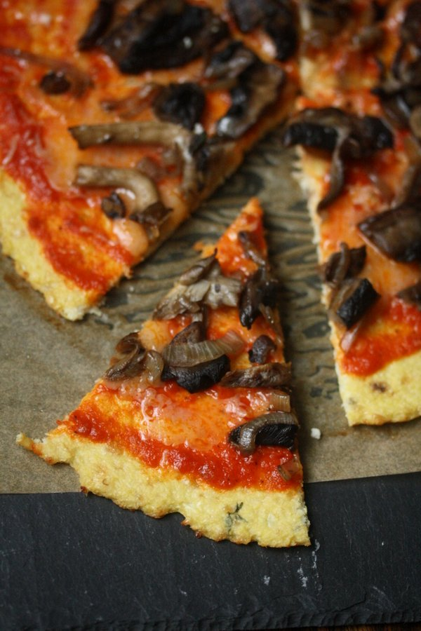 Wild Mushroom Pizza with The Best Cauliflower Crust