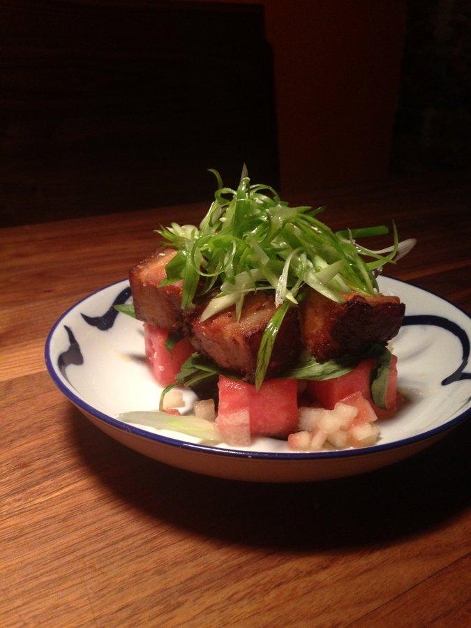 Crispy Pork Belly and Watermelon | Fatty Crab
