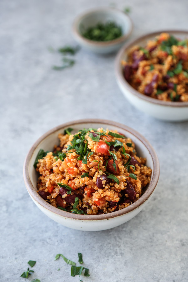 quinoa pilaf in a bowl