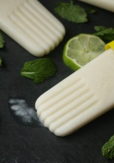 Healthy Coconut Mojito Popsicles