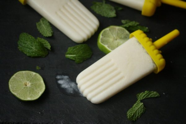 Healthy Coconut Mojito Popsicle Recipe | Quick Easy Desserts | Feed Me Phoebe