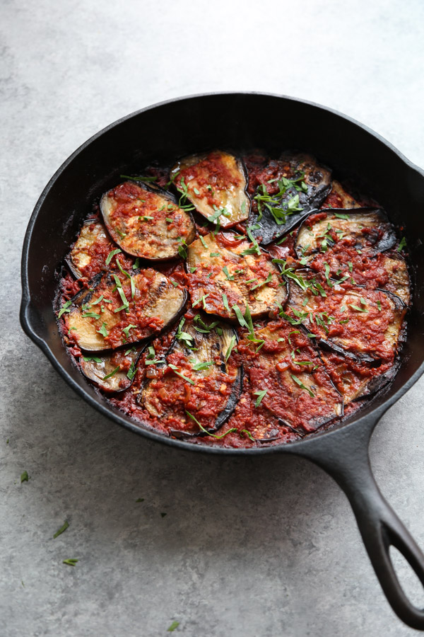 Imam bayildi healthy turkish eggplant casserole recipe turkish eggplant casserole with tomatoes imam bayildi forumfinder Images