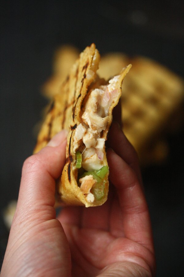 Easy Grilled Buffalo Chicken Quesadillas with Yogurt Sauce | Gluten-Free, Healthy Recipe