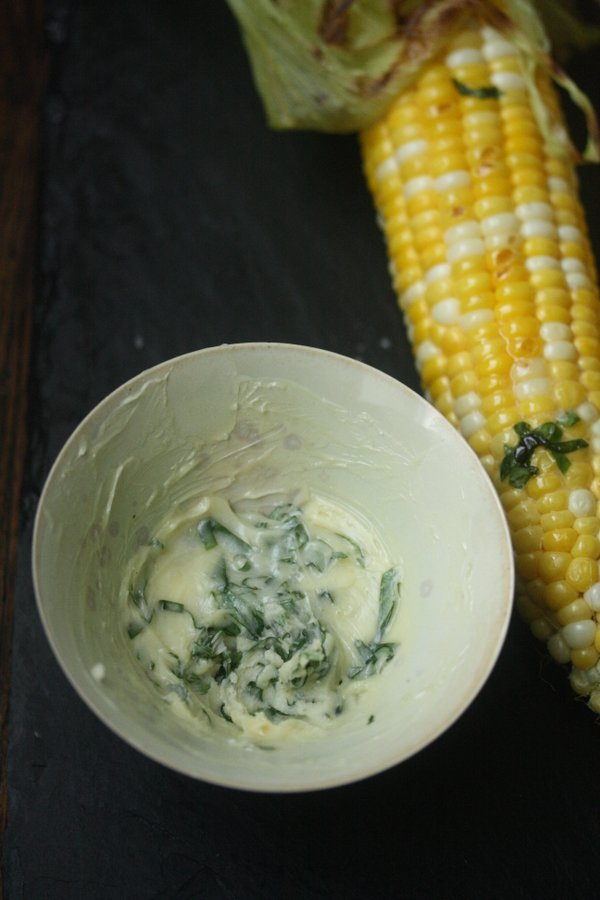 Honey Butter with Basil. This recipe for honey butter is easy and great for fresh corn recipes.