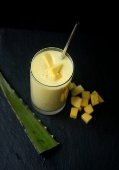 Mango Lassi with Kefir and Aloe Water