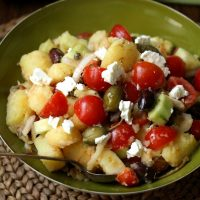 Healthy Greek Potato Salad