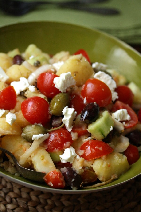 Healthy Greek Potato Salad with Olives and Feta | Quick & Easy | Gluten-Free Homemade