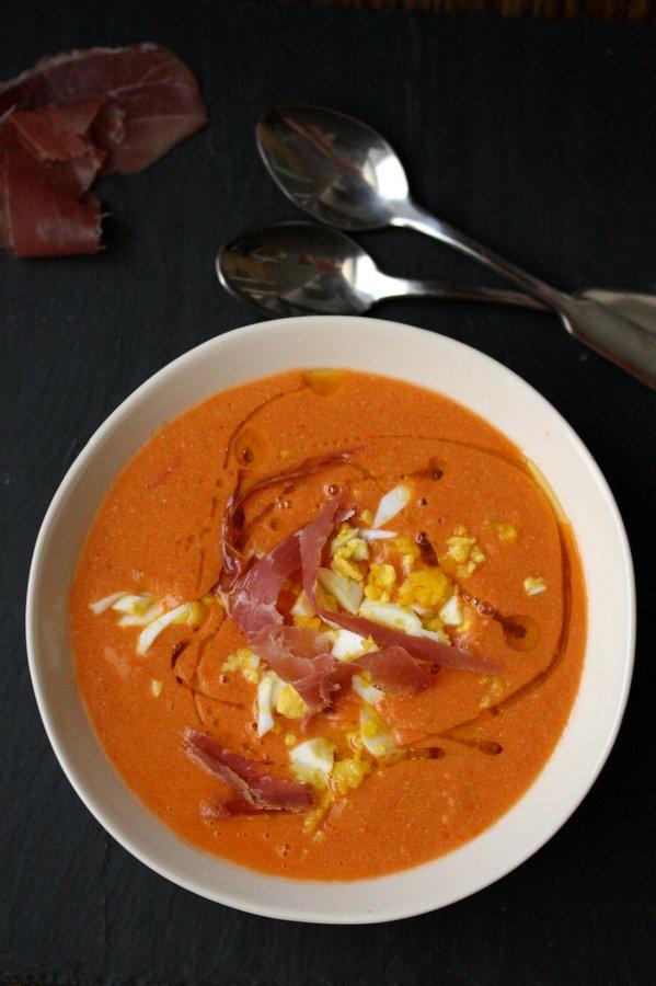 Salmorejo Cordobes - Creamy Spanish Gazpacho | Cold Tomato and Bread Soup Recipe | Gluten-Free, Healthy, Easy