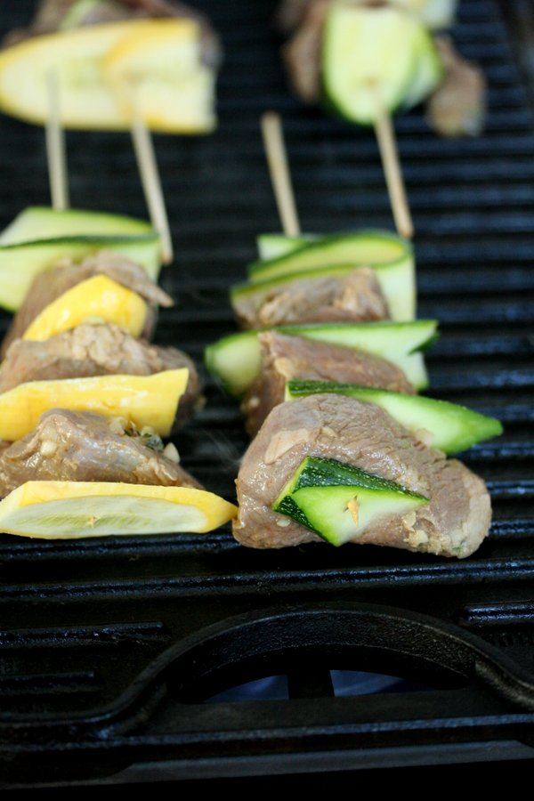 Grilled Marinated Lamb Kebabs with Zucchini and Lebonese Fresh Tomato Salsa | Easy Healthy Recipe