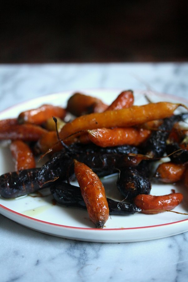 Honey Carrots recipe with thyme - oven roaasted and cooked with honey