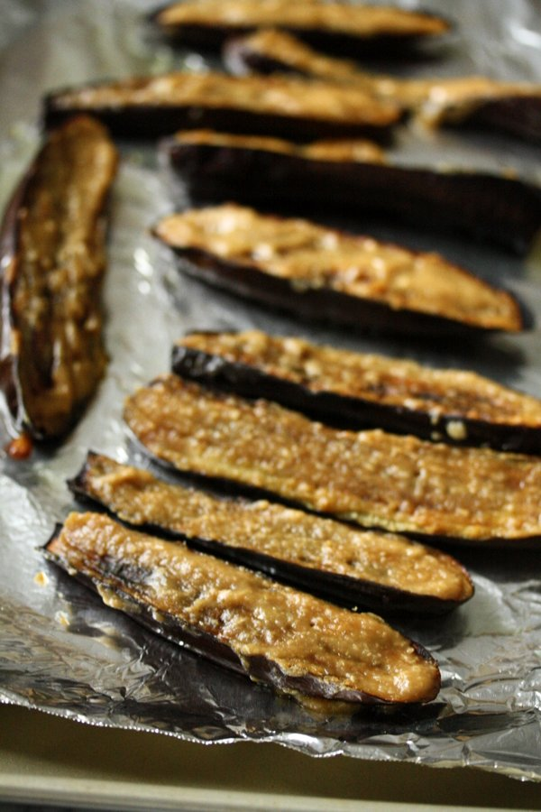 Japanese Miso Glazed Eggplant. Quick, healthy and gluten-free.