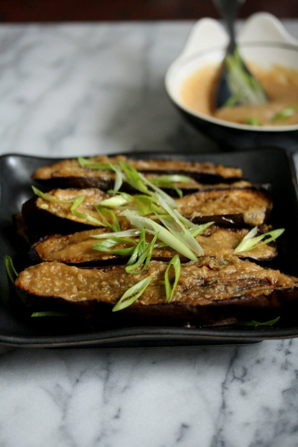 Japanese Eggplant with Miso Glaze - Easy, quick and healthy!