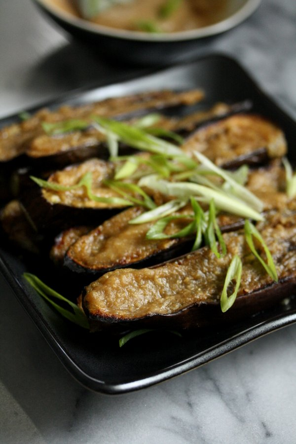 This Miso eggplant is one of the best vegetarian Japanese dishes. The ginger glaze is quick and easy - tastes great on anything!