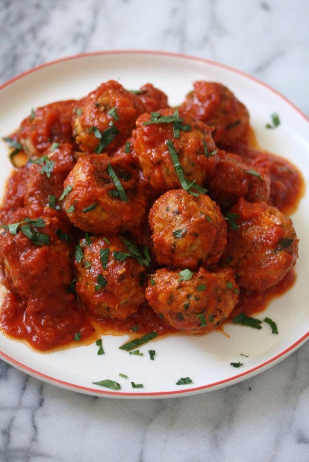 Gluten-Free Baked Chicken Meatballs | Easy, Healthy Italian Recipe