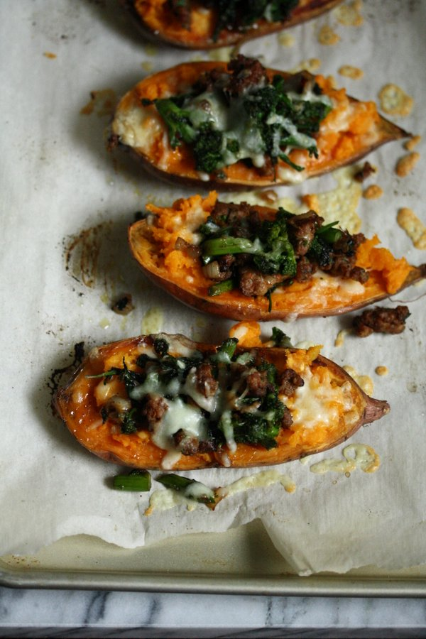 Healthy Roasted Sweet Potato Recipe - A great easy thanksgiving side or quick weeknight meal.