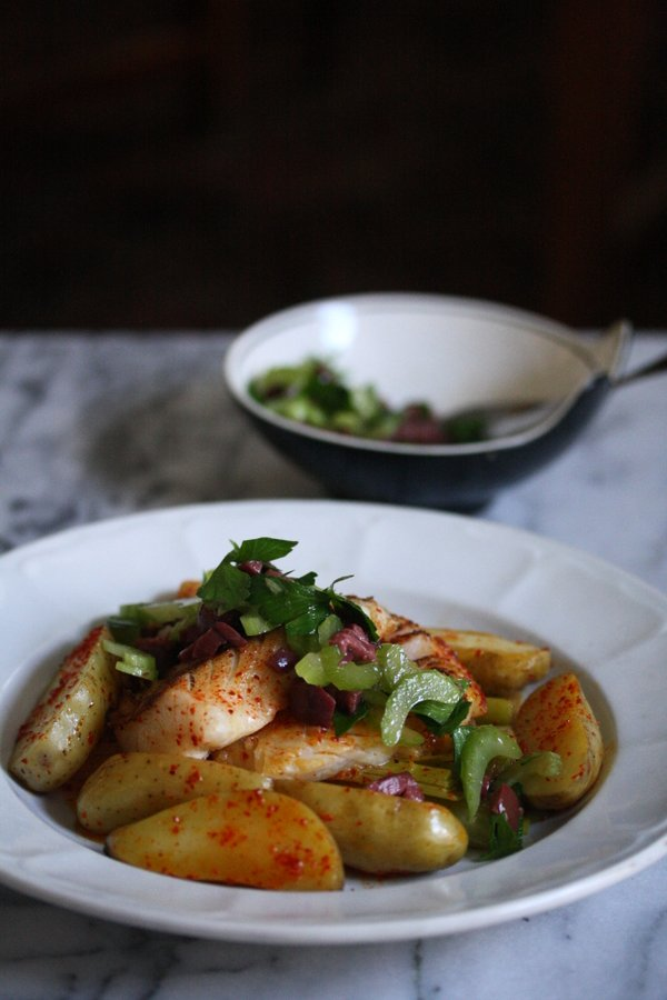 Seared Hake Recipe with Melted Leeks and Fingerling Potatoes | Easy White Fish Recipe