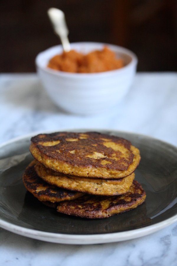 healthy pumpkin pancakes with gluten-free flour blend
