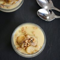 Healthy Banana Pudding with Maple-Rum Compote <span> + 3 Years of Feeding You! </span>