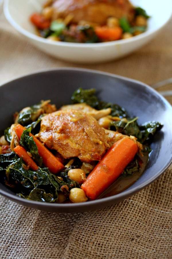 Easy moroccan chicken tagine recipe with kale healthy easy moroccan chicken tagine recipe with kale chickpeas and carrots healthy slow cooker forumfinder