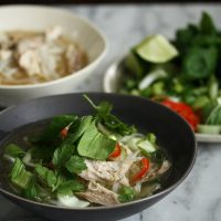 Easy Vietnamese Chicken Pho with Bok Choy and Herbs (Pho Ga)