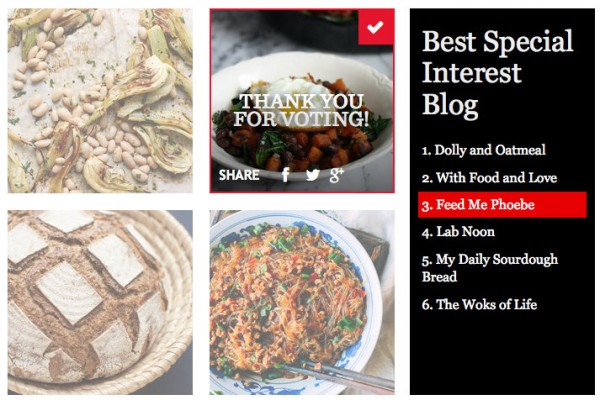 Saveur Blog Awards 2015 - Best Special Interest Blog - Feed Me Phoebe